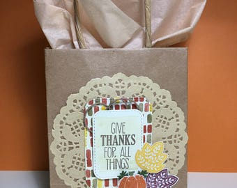 Paper bags for Thanksgiving gifts