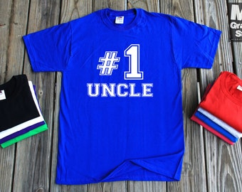 Number 1 Uncle T-Shirt Father's Day Gift For Uncle Number #1 Uncle Shirt All Colors & Sizes