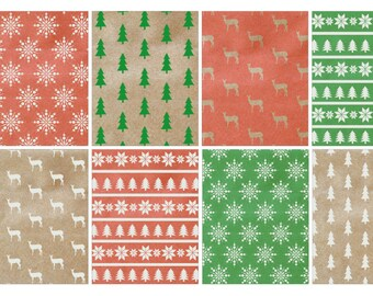 Christmas Shabby Chic Full Box stickers (planner stickers)