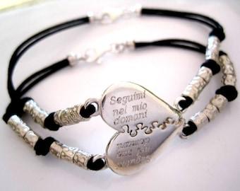 Puzzle silver bracelets