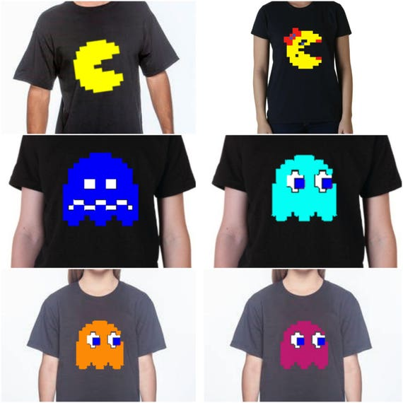 Pac-Man Character T-shirts for Adults or Kids