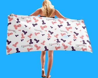 Cute Penis Beach Towel for Bachelorette Party