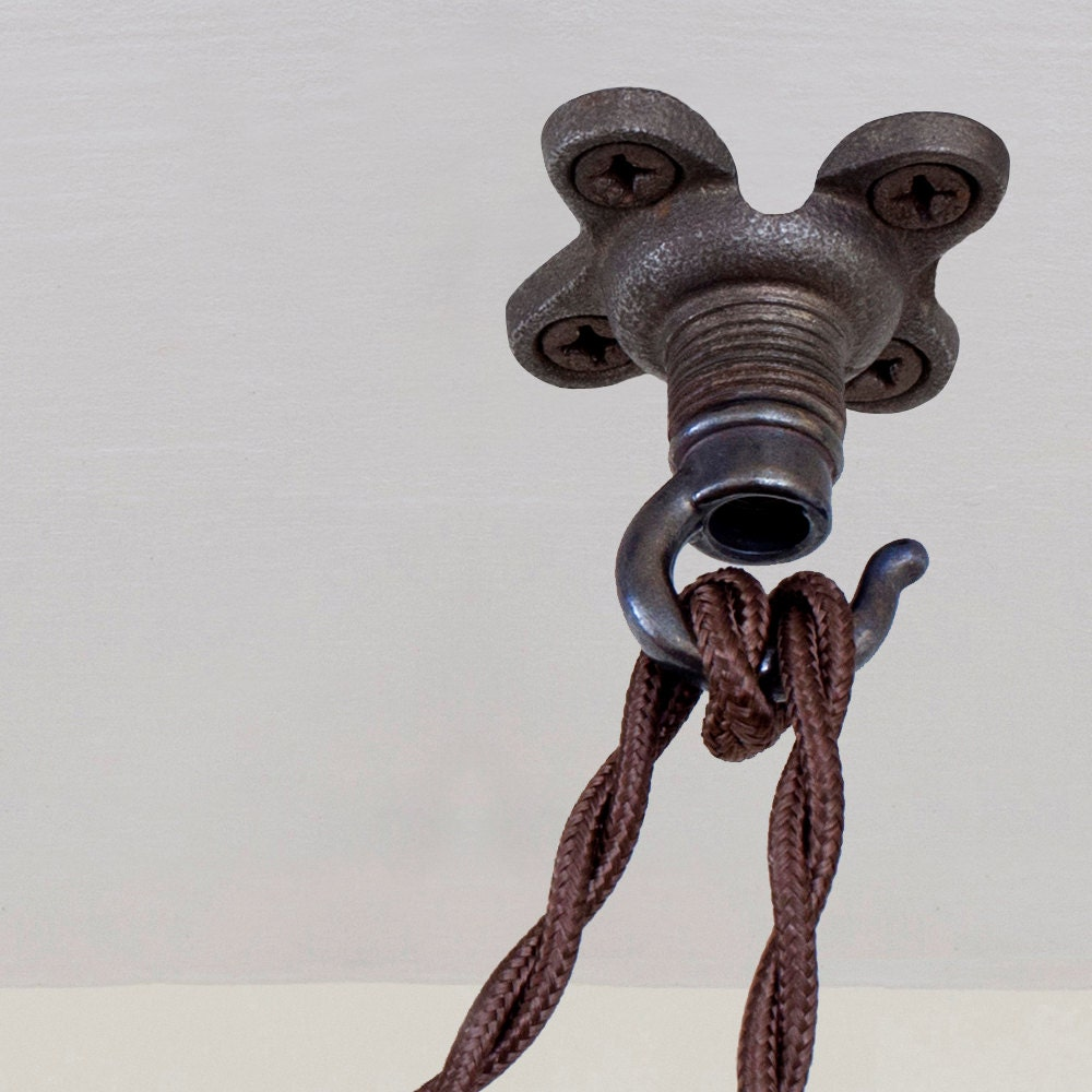 Swag hook antique brass patina pendant light ceiling hook zoom aloadofball Choice Image
