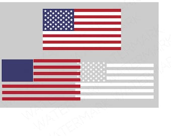 American Flag Cutout Files for Cricut SVG and Silhouette Studio File Cut Out Stencil Decal Logo SVGS  United States USA