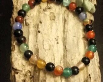 Bracelet~Bangle~Multi Colored Beaded~Stackable~Holiday Gifts~Christmas~Hanukkah