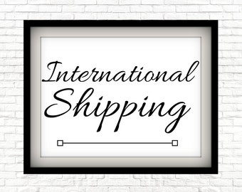 International Shipping For Any Item - Custom Print, Hand Stamped Keychains, Physical Print And Ship