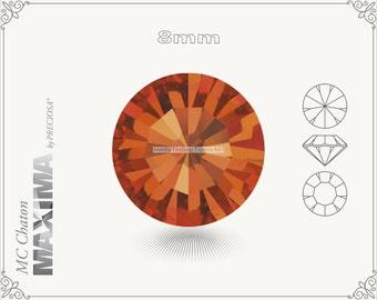6 pc.+ SS39 (8mm) Preciosa MC Chaton MAXIMA - Hyacinth Color
