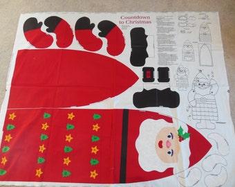 Christmas Holiday Advent Calendar Panel DIY Sewing Santa Craft