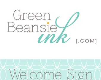 Welcome Sign for any Package Design