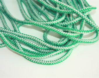3 mm Braided Cord 5 Yards = 4.57 Meters POLYESTER RARE and Elegant Rope Decorative Rope Macrame Rope Macrame Cord Polyester Yarn