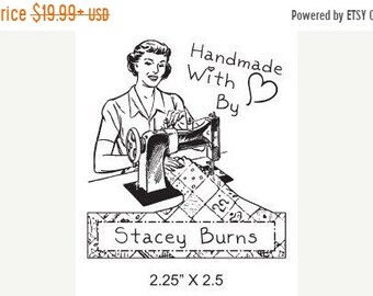 Mothers Day Sale Woman Sewing  Custom Hand Made By Rubber Stamp AD113