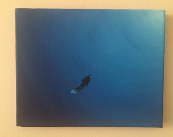 Open water diver painting