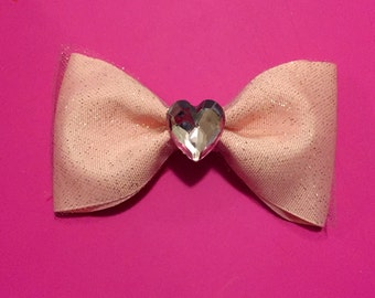 Sparkly Pink Hair Bow