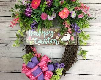 Easter wreath, grapevine wreath , spring wreath