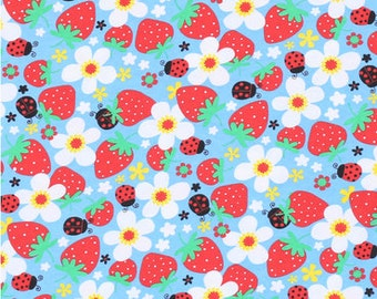 Made to Order Strawberries, Daisies, Ladybugs and Flowers Unisex Adult Flannel Pajama Pants