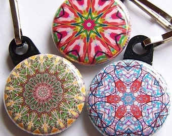 Kaleidoscope Zipper Pulls 3 piece State Fair Set