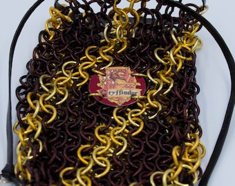 Gryffindor Harry Potter Chainmaille Dice Bag