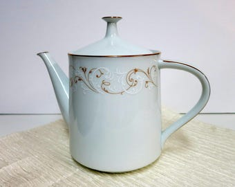 Noritake Duetto China Teapot, Vintage Noritake China Teapot, Vintage Noritake Duetto China, Vintage Noritake China -V289