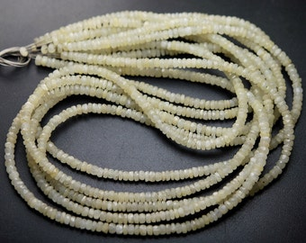 14 Inch Full Strand,Natural White Ruby Faceted Rondelles Size,3-3.5mm