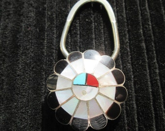 Zuni Kachina Sunface Key Holder