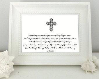 Psalm 116 | Scripture Print | Bible Verse| Printable Art | Typographic Art | Decor | Digital Print