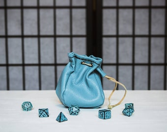 The Sky's the Limit -  Four-Sided Leather Dice Bag