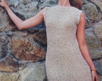 1960's Knitting PDF Pattern, Vintage Pattern Women's Knit Dress Pattern 1113