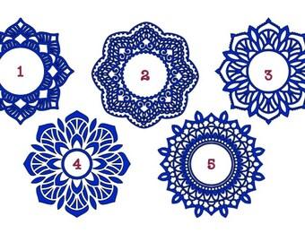 "Mandala Decal With Monogram (3.5""X3.5"")"