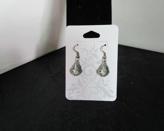 Black Smoke Glass Earrings