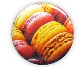 Badge MACARONS macaroon greed gourmet treats cake france french cookie Kawaii button pins - Ø25mm - 1 inch