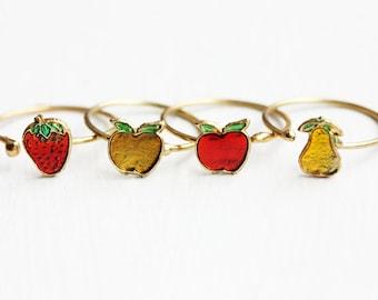 Enamel Fruit Ring - Adjustable Sizes 8-9