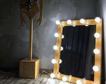 Vanity mirror with lights makeup mirror wall hanging or vanity hollywood mirror with lights mirror with lights makeup mirror aloadofball Image collections