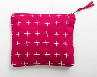 Crosses Print Makeup Bag