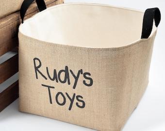Personalized Toys Storage Basket, Black
