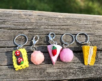 Pastry Knitting and Crochet Stitch Marker Jewelry