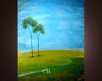 Just the two of Us- Abstract Landscape Art Print. Free Shipping inside US.