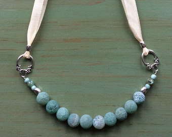 Sea Foam Ribbon Necklace