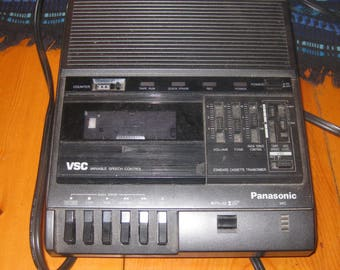 Vtg panasonic RR-830 electric cassette recorder transcriber dictaphone works great