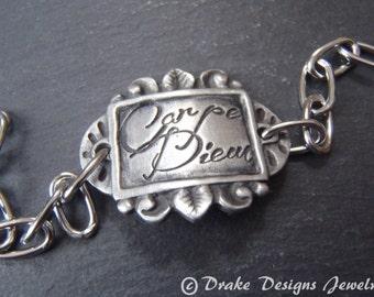 Carpe Diem inspirational Bracelet Graduation gift seize the day