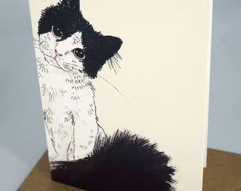 Greetings Card - Cat