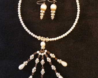 Swarovzki Crystal necklace and earring set