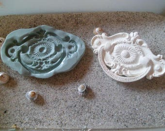 arabesque old style for fimo wepam cast resin rose silicone mold