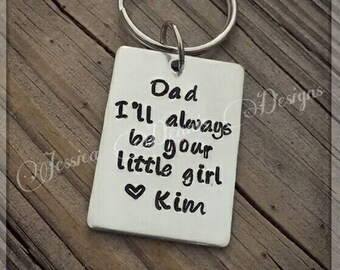 Father of the bride * Dad I'll Always be your little girl * Personalized * Wedding Gift for Dad * Father's Day Gift