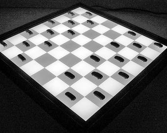 3DCUBEGAMES Bright BG-2, Lady Lit, lightbox, game board lit, checkers game, play lighted