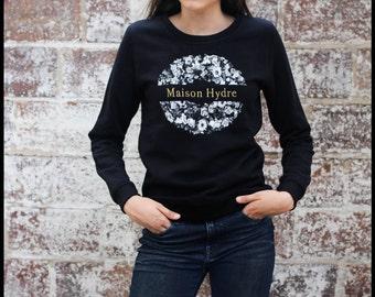 """Sweatshirt woman """"The Crown of flowers"""""""