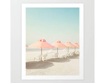 Beach wall art, gifts for men, beach umbrella, wall art canvas art, extra large wall art, Christmas gifts, beach photography