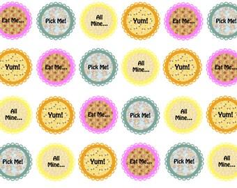 Edible Cupcake Toppers, Springtime Toppers, Tea Party Toppers, Pastel Cupcake, Wafer Toppers, Edible Prints, Vintage Theme
