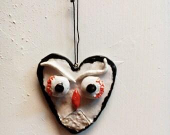 OWL ornament polymer clay.