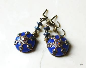 Earrings - Star and Blue