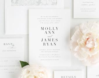 Serif Romance Wedding Invitations - Deposit
